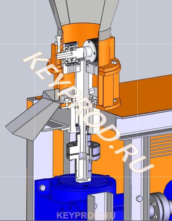 Гранулятор для производства пеллет разрез