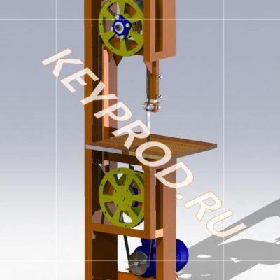 Ленточная пила 3D-модель