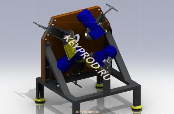 Станок для производства витой трубы 3D-модель