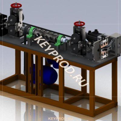 Станок правильно-отрезной СПО-01: 3d-модель, чертежи
