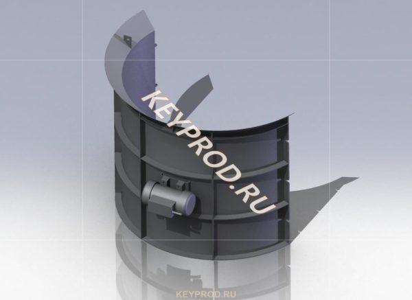 Форма для производства кольца КС 10-9 обечайка