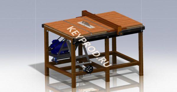 Циркулярная пила ЦП 01 3D-модель