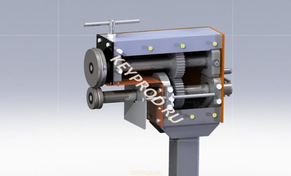 3D-model of manual folding machine