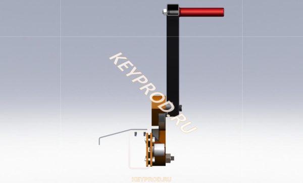 Нож роликовый чертежи 3D-модель