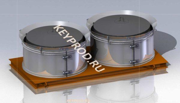 3D-модель формы для колец ЖБИ КС 20х9 на два изделия