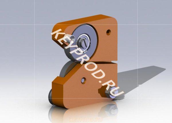 Нож роликовый D-модель Iges stp