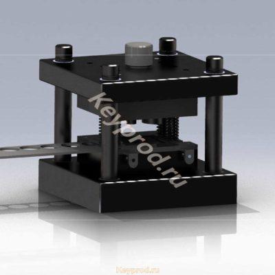 Вырубной штамп 3D-модель скачать Iges solid компас