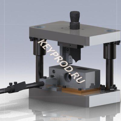 Штамп для резки труб 3D-модель чертежи iges silid компас