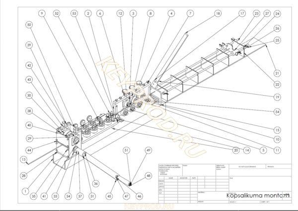 чертежи правильно-отрезного станка с ручным приводом общий вид