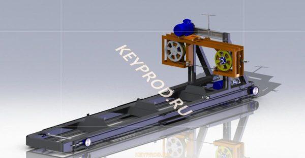 Пилорама ленточная 3D-модель скачать