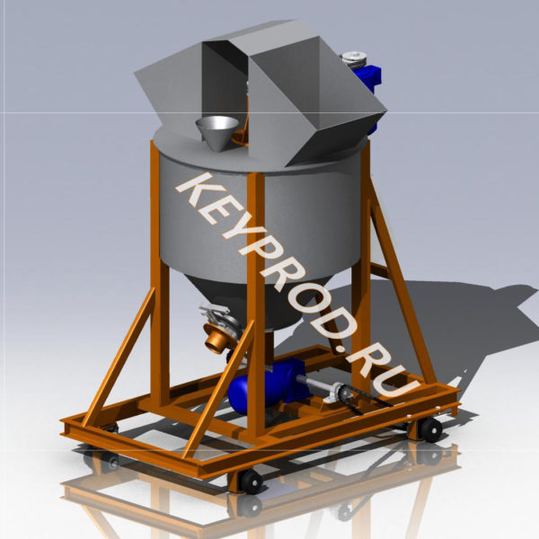 3D-модель смесителя передвижного