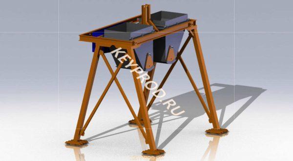 Дозатор для производства газобетона 3D-модель скачать