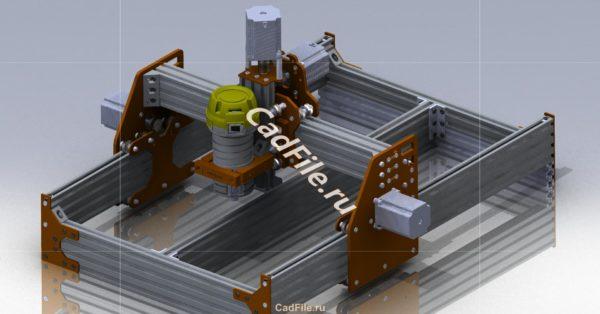 3D-модель Портальный фрезерный станок чпу по дереву