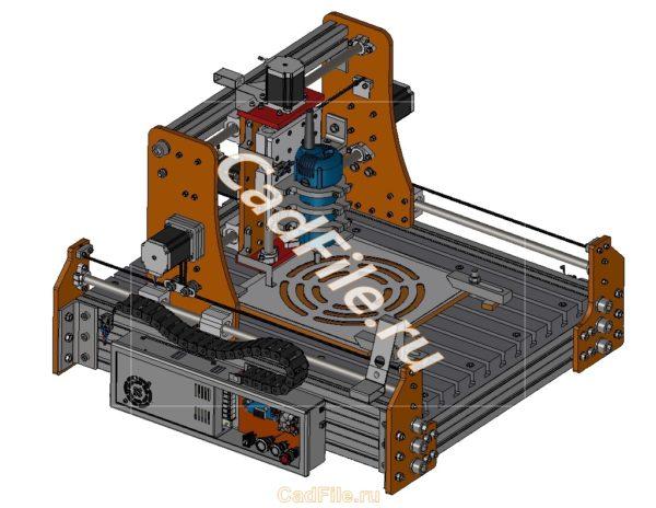 Фрезер портальный ЧПУ CNC 3D-модель iges solid 3D-model