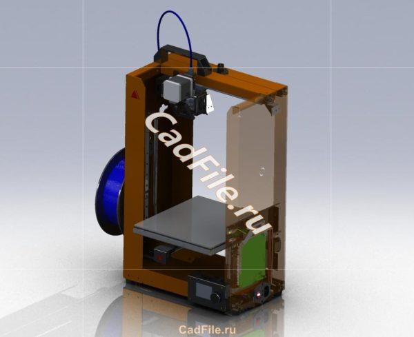 3D-принтер 3D-модель скачать компас iges