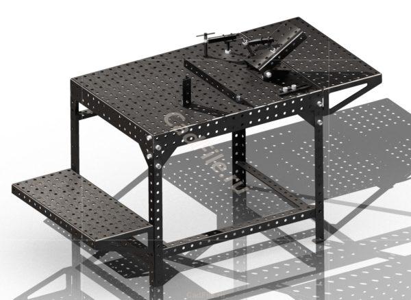 Стол сварочно-монтажный 3D-модель чертежи
