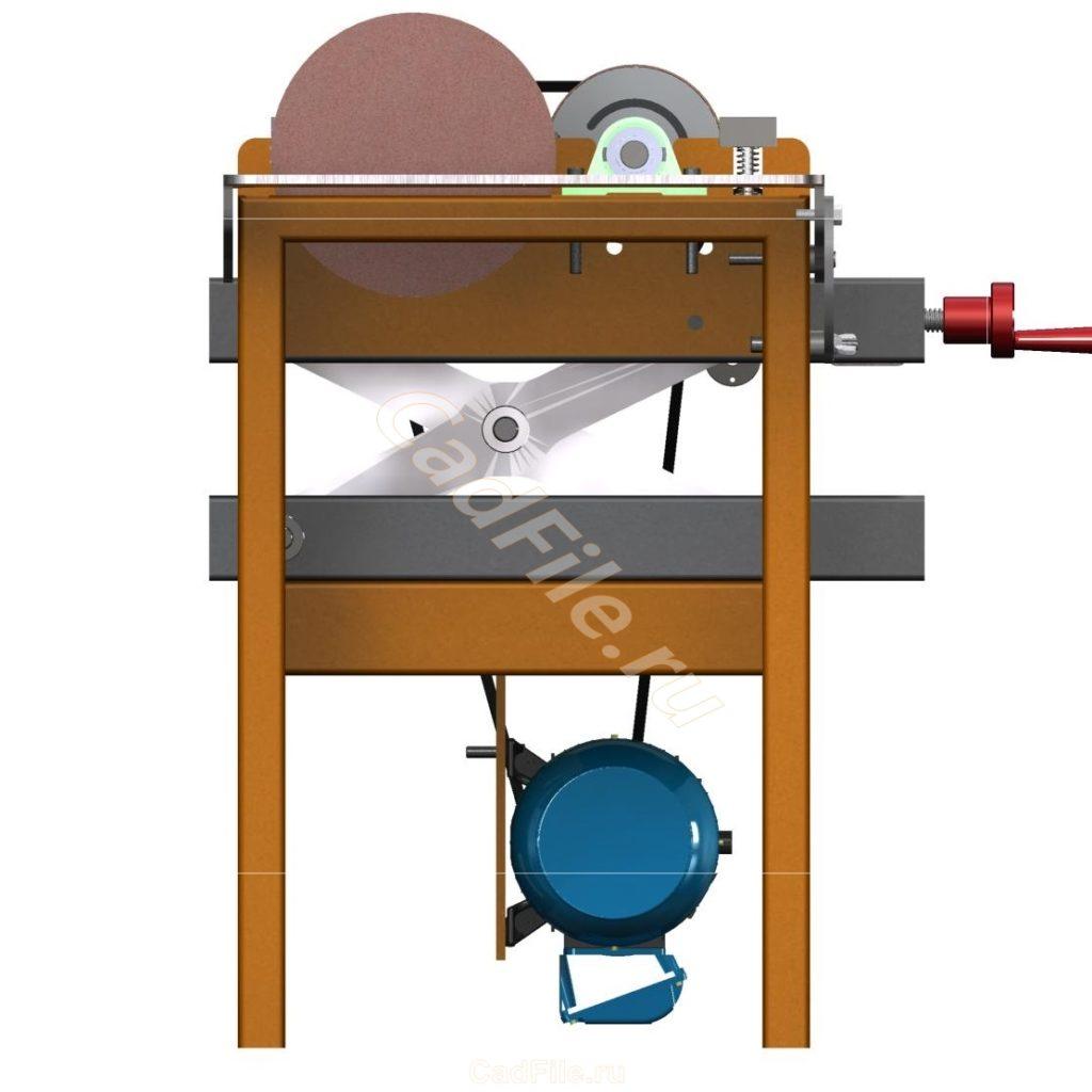 Двухбарабанный шлифовальный станок 3D-модель скачать