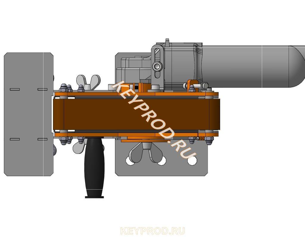 Ленточно-шлифовальный станок с приводом из УШМ