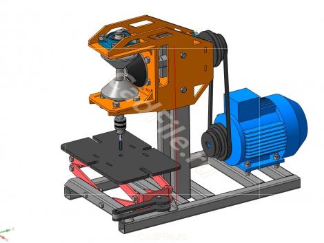 станок резьбонарезной 3D-модель скачать