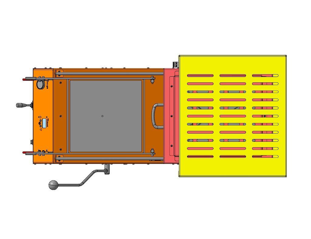Вакуумный формовочный станок 3D-модель iges step