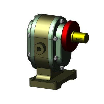 МЧ 00.20.00.00 СБ - Насос шестеренный 3D-модель чертежи