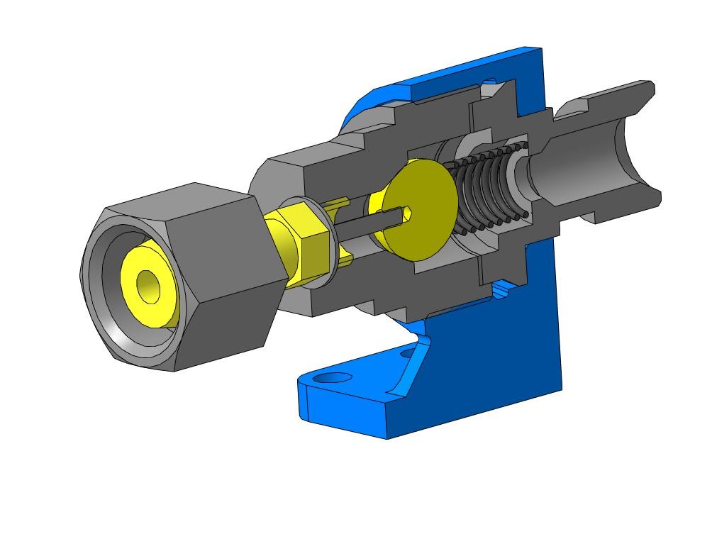 МЧ00.19.00.00 Клапан сетевой обратный 3D-модель