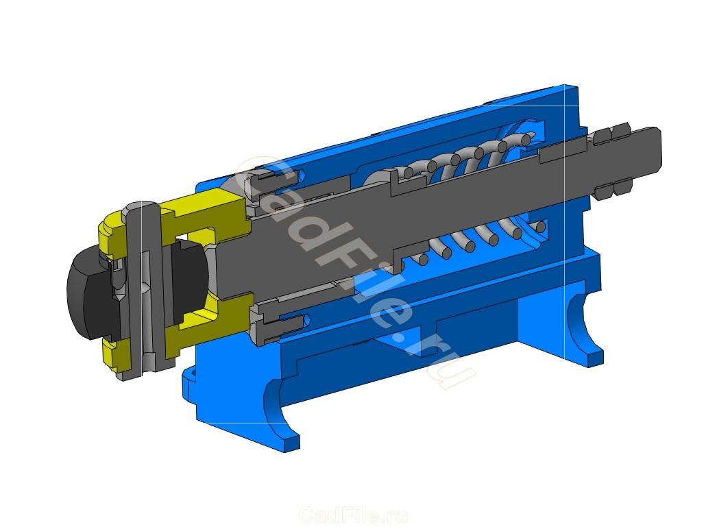 МЧ00.34.00.00 СБ Амортизатор роликовый 3D-модель