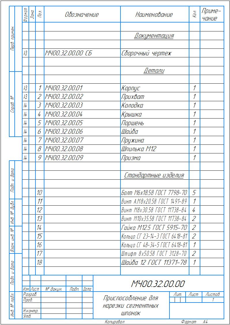 МЧ00.32.00.00_Приспособление для нарезки сегментных шпонок