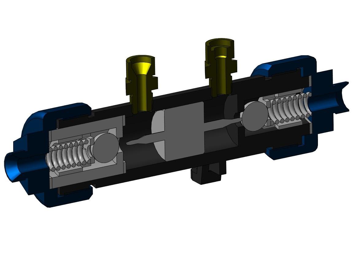 МЧ00.33.00.00.СБ Гидрозамок 3D-модель разрез