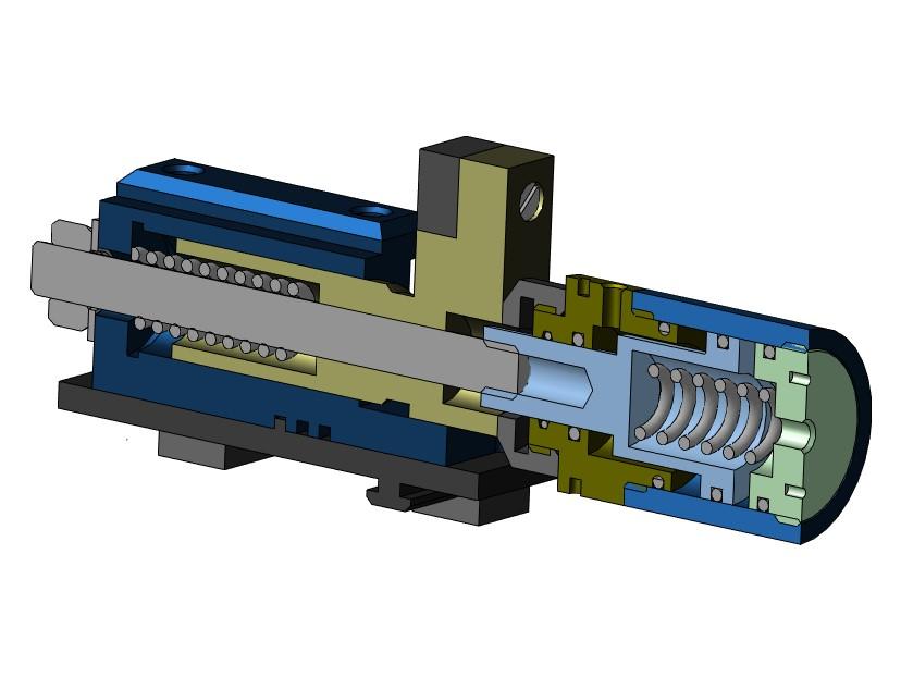 Зажим гидравлический МЧ00.44.00.00.СБ чертежи и 3D-модель