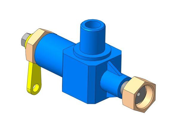 МЧ00.60.00.00 - Вентиль чертежи 3D-модель