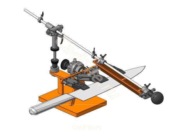 Точильный станок для ножей 3D-модель чертежи