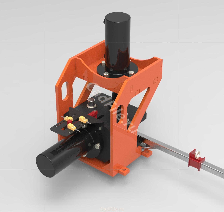 Гидравлический пресс для угловой резки профиля чертежи 3D-модель