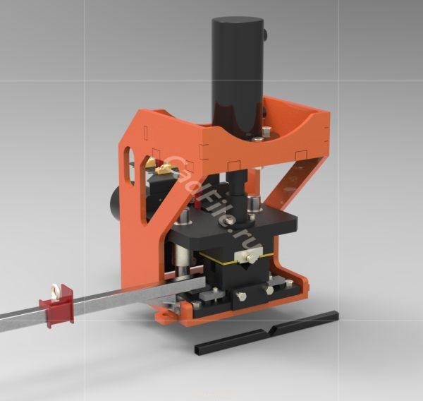 Гидравлический пресс для угловой резки профиля 3D-модель