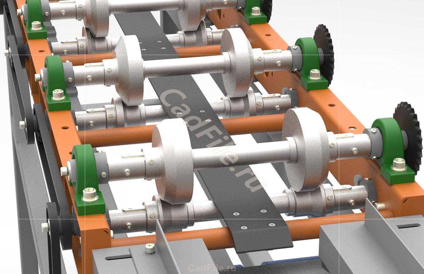Прокатный стан для производства конька 3D-модель