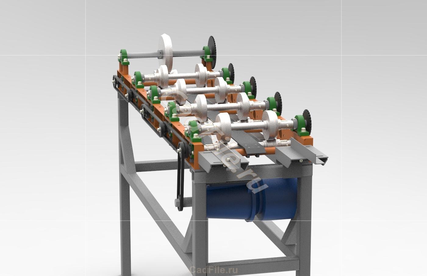 Прокатный станок 3D-модель скачать