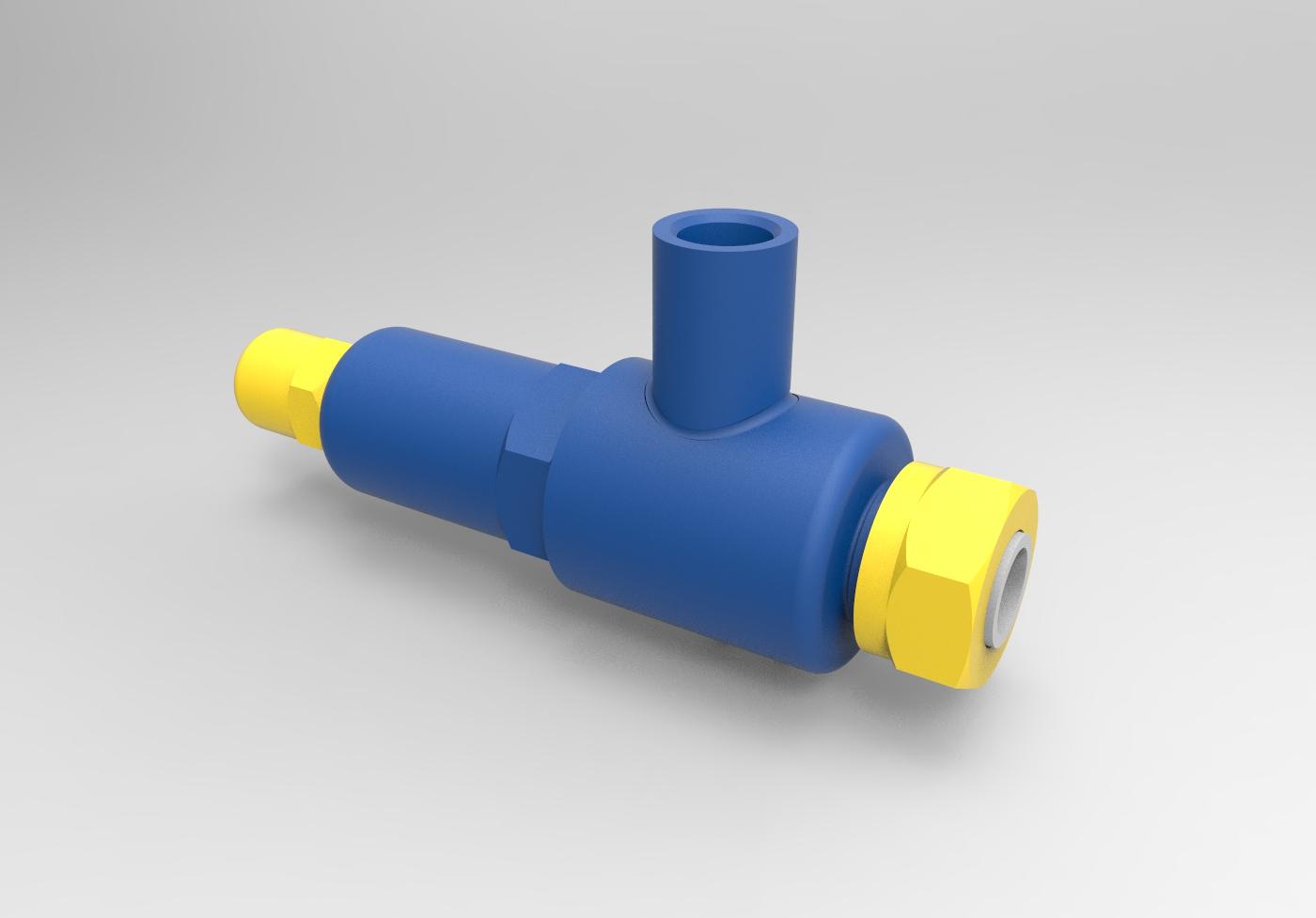 Клапан предохранительный _ МЧ00.76.00.00 СБ чертежи 3D-модель