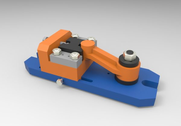 Приспособление для фрезерования МЧ00.55.00.00.СБ 3D-модель