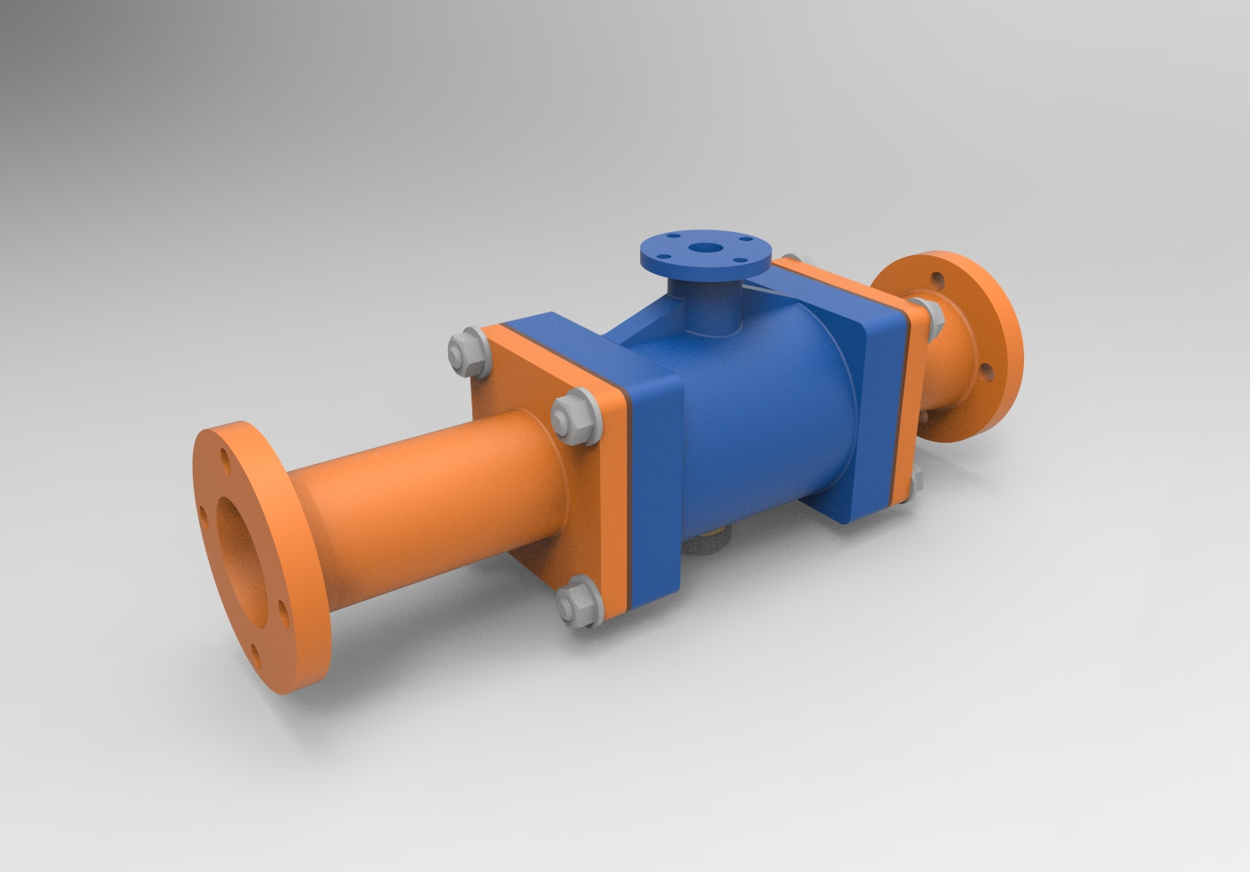 Эжектор МЧ00.57.00.00.СБ 3D-модель чертежи