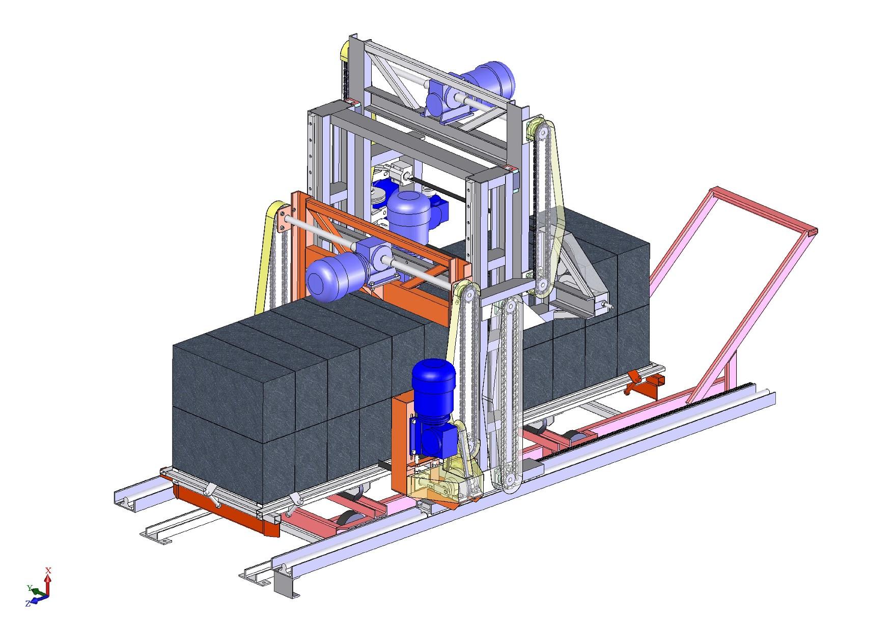 установка резки газобетона 3D-модель скачать