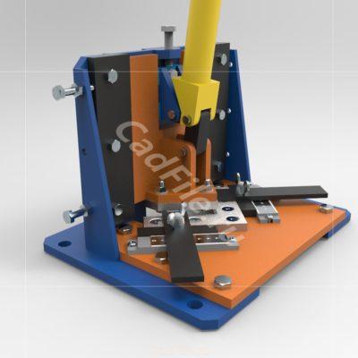 Пресс вырубной ручной 3D-модель STEP IGES Компас