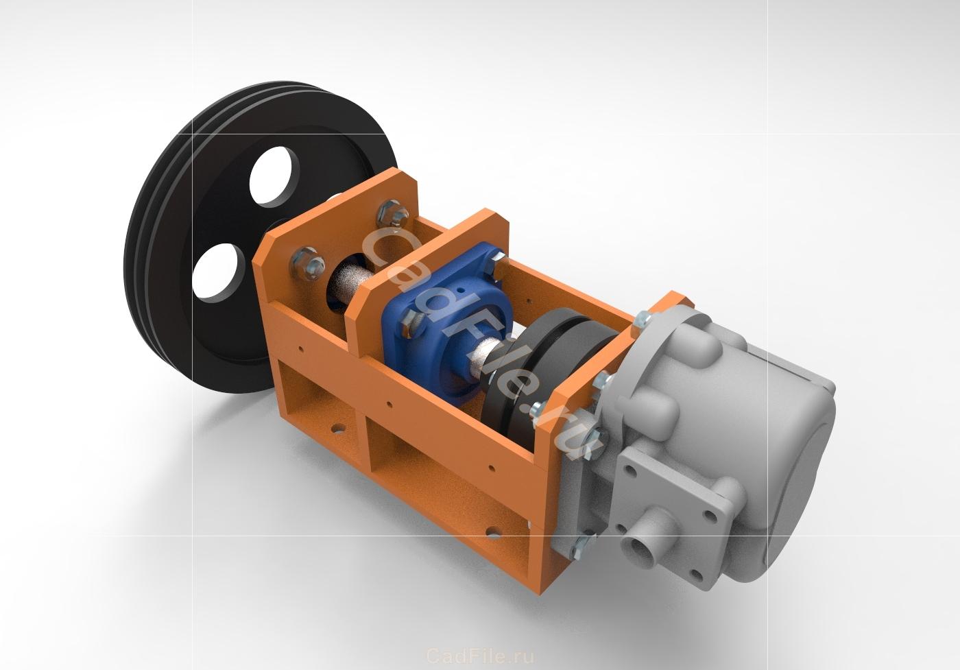 привод насоса НШ32 3D-модель
