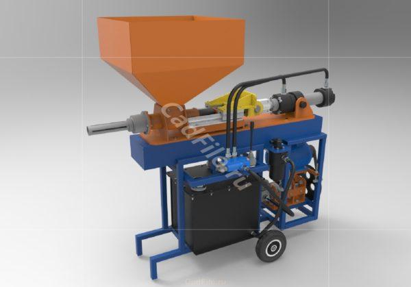мини пресс для топливных брикетов 3D-модель